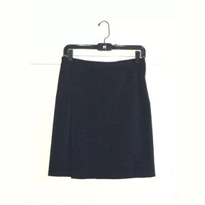 Prada Aline skirt front Slit career solid Womens